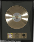 "Music Memorabilia:Awards, Ramones ""Ramones Mania"" Gold Record Award. Floater-style goldrecord award presented to WEA Nashville to commemorate the sal..."