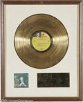 "Music Memorabilia:Awards, Frank Sinatra ""My Way"" Gold Record Award. Certified gold by theRIAA on March 12, 1970, this matte-style award was presented..."