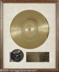 Music Memorabilia:Awards, Joe Schermie Gold Record. Here's a beautiful, framed gold albumawarded to the Three Dog Night bassist, with a plaque that r...