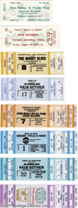 Music Memorabilia:Ephemera, Unused Concert Tickets, Group of 8 (Various). Here's a terrificgroup of eight different, unused tickets from the '70s to th...