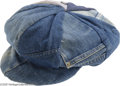 Music Memorabilia:Costumes, Jimi Hendrix Denim Hat. A street-style denim hat that originally belonged to Jimi Hendrix -- very cool item on its own, the ...
