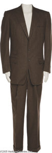 Music Memorabilia:Costumes, Jim Reeves- Handsome Two Piece Brown Pin Stripe Suit Known as Gentleman Jim Reeves, this singer was perhaps the biggest male...