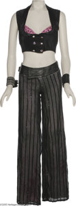 "Music Memorabilia:Costumes, Britney Spears ""Boys"" Costume. Featured is the performance costumeworn by Britney Spears during the song ""Boys"" from the 20..."