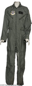 Music Memorabilia:Costumes, Tammy Wynette Flight Suit. This sage-green, mint condition U.S. AirForce flight suit (size 36R) was presented to Tammy Wyne...