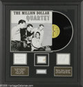 "Music Memorabilia:Autographs and Signed Items, ""Million Dollar Quartet"" Album and Signatures Display. Here is a display commemorating the December 4, 1956, Sun Records rec..."