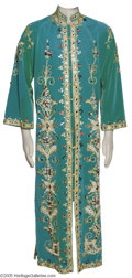 Music Memorabilia:Costumes, Elvis Presley Green Jewelled Kaftan Robe. Many of us would be alittle hesitant to go out in public wearing a bejeweled, gre...