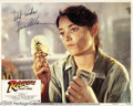 "Memorabilia:Miscellaneous, Karen Allen Signed Lobby Card. From Steven Spielberg's adventureclassic ""Raiders of the Lost Ark."" With COA from PSA/DNA...."