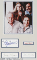 "Hollywood Memorabilia:Autographs and Signed Items, ""All in the Family"" Signature Lot. Signatures from co-stars SallyStruthers, Rob Reiner, Carroll O'Connor, and Jean Stapleto..."
