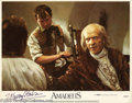 "Memorabilia:Miscellaneous, F. Murray Abraham Signed Lobby Card. From Milos Forman's 1984 drama ""Amadeus."" With COA from PSA/DNA...."