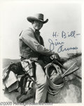 Memorabilia:Miscellaneous, James Arness Signed Photograph Plus Other Western Stars. One of the actors most identified with that uniquely American genre...