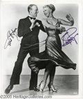 Hollywood Memorabilia:Autographs and Signed Items, Fred Astaire and Ginger Rogers Signed Photograph. A vintage promotional photo signed by dancing duo Fred Astaire and Ginger ...