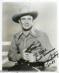 Hollywood Memorabilia:Autographs and Signed Items, Gene Autry Signed Photograph Plus Other Cowboy Greats. Featured inthis lot is a photograph of Autry, signed and dated Janua... (5Items)