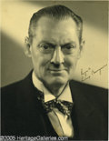 Memorabilia:Miscellaneous, Lionel Barrymore Signed Photograph. Here is a photograph signed by Lionel Barrymore, member of the noted acting family that ...