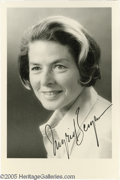 "Hollywood Memorabilia:Autographs and Signed Items, Ingrid Bergman Signed Photograph. A 3"" x 5"" black-and-white photosigned by the ""Casablanca"" actress in black ink. With CO..."