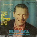 "Hollywood Memorabilia:Autographs and Signed Items, Milton Berle Signed ""Songs My Mother Loved"" LP Roulette 25108 HighFidelity. A rare album of standards featuring comedian Mi..."