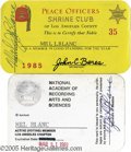 Hollywood Memorabilia:Autographs and Signed Items, Mel Blanc Signed NARAS and Shrine Club Cards. A voice artistwithout equal, Mel Blanc provided the voices for almost every m...(2 Items)