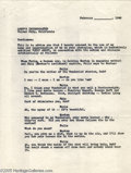 Hollywood Memorabilia:Autographs and Signed Items, Humphrey Bogart Signed Document. A two-page, typed document, dated February 1942, in which Bogart consents to Red Skelton's ...