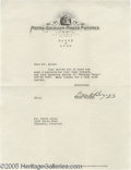 Hollywood Memorabilia:Autographs and Signed Items, Frank Borzage Signed Letter. Here is a typed letter on MGM stationery, dated March 4, 1940, from writer-director Frank Borza...