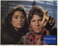 "Memorabilia:Miscellaneous, Jeff Bridges Signed Lobby Card. From the John Carpenter sci-firomance ""Starman."" With COA from PSA/DNA...."