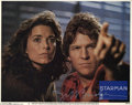 "Memorabilia:Miscellaneous, Jeff Bridges Signed Lobby Card. From John Carpenter's ""Starman."" With COA from PSA/DNA...."