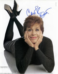 Hollywood Memorabilia:Autographs and Signed Items, Carol Burnett Autographed Picture. Here's a signed picture (actually a page from an unidentified magazine feature) of Carol ...