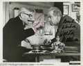 "Hollywood Memorabilia:Autographs and Signed Items, George Burns and Walter Matthau Signed Photograph. Here's a 10"" x 8"" black and white publicity still for the 1975 comedy ""Th..."