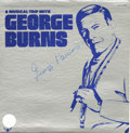 "Hollywood Memorabilia:Autographs and Signed Items, George Burns Signed ""A Comical Trip With George Burns"" LP Buddah 5127 Stereo (1972). A rare signed copy of the 1972 album by..."