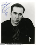 Hollywood Memorabilia:Autographs and Signed Items, Nicholas Cage Signed Photograph. The nephew of filmmaking legendFrancis Ford Coppola, Nicholas Cage changed his last name e...