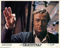 "Memorabilia:Miscellaneous, Michael Caine Signed Lobby Card. A press photo for Sydney Lumet'sdark comedy ""Deathtrap,"" about a Broadway playwright who p..."