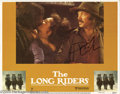 "Hollywood Memorabilia:Autographs and Signed Items, David Carradine Signed Lobby Card. A lobby card for Walter Hill'swestern ""The Long Riders"" signed by actor David Carradine...."