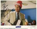 "Memorabilia:Miscellaneous, Chevy Chase Signed Lobby Cards.Three promotional photos for the'80s comedy ""National Lampoon's Vacation"" signed by comedian... (3)"