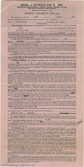 Hollywood Memorabilia:Autographs and Signed Items, Donald Crisp Signed Contract. A single-page, double-sided artist'scontract, dated August 20, 1936, engaging actor Donald Cr...