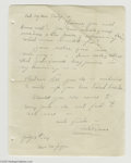 Hollywood Memorabilia:Autographs and Signed Items, Ruth St. Denis Signed Letter. A one-page, handwritten letter datedJuly 13, 1929 from dancer, choreographer, and modern danc...