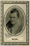 Hollywood Memorabilia:Autographs and Signed Items, Marie Dressler Signed Photograph. Vaudeville singer and actressMarie Dressler made an unexpected comeback with the advent o...