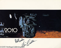 "Keir Dullea Signed Promotional Lobby Cards. Two signed promotional photos for the sci-fi film ""2010"" signed by..."