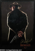 "Hollywood Memorabilia:Autographs and Signed Items, Unforgiven Poster autographed by Clint Eastwood (1992). ClintEastwood has boldly signed this poster for ""Unforgiven"" in gol..."
