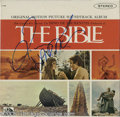 "Hollywood Memorabilia:Autographs and Signed Items, Signed ""The Bible"" Soundtrack LP 20th Century Fox Records 4184 Stereo (1966). Intended as the first in a series of films whi..."