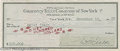 Hollywood Memorabilia:Autographs and Signed Items, W. C. Fields Signed Check. Personal check written for $100 anddated December 13, 1938, signed by comedian W. C. Fields in b...