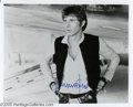 "Hollywood Memorabilia:Autographs and Signed Items, Harrison Ford Signed Photograph. A signed 8"" x 10"" publicityportrait of Harrison Ford in one of the roles that made him wor..."