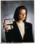 "Hollywood Memorabilia:Autographs and Signed Items, Jodie Foster Signed Photograph. A promotional photo for the movie""The Silence of the Lambs"" signed by actress Jodie Foster,..."