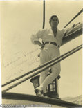 "Hollywood Memorabilia:Autographs and Signed Items, Clark Gable Signed Photograph. An 8"" x 10"" black-and-white, sepia-hued photo of Gable from ""Mutiny on the Bounty"" (1935), in..."