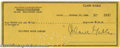 Hollywood Memorabilia:Autographs and Signed Items, Clark Gable Signed Check. Personal check dated October 10, 1946 andsigned by leading man Clark Gable in black ink. In very ...