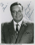 Hollywood Memorabilia:Autographs and Signed Items, Jackie Gleason Signed Photograph and Other Famous Actor SignedPhotos. This lot features a black-and-white photo signed by t... (7Items)