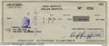 Hollywood Memorabilia:Autographs and Signed Items, Andy Griffith Signed Check. A signed check dated June 21, 1977,from beloved actor Andy Griffith, whose 50-year career inclu...