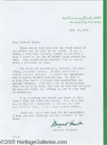 Memorabilia:Miscellaneous, Margaret Hamilton Signed Letter. A July 30, 1975, letter typed and signed by the actress (she played the Wicked Witch of the...