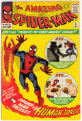 Silver Age (1956-1969):Superhero, The Amazing Spider-Man #8 (Marvel, 1964) Condition: VG-.