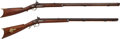 Long Guns:Muzzle loading, Lot of Two Half-Stock Percussion Rifles.... (Total: 2 Items)