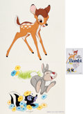 Animation Art:Production Drawing, Bambi Re-Issue Poster Illustration by Paul Wenzel (WaltDisney, 1982)....