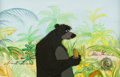 Animation Art:Production Cel, The Jungle Book Baloo Signed Production Cel and Custom Painted Background (Walt Disney, 1967)....