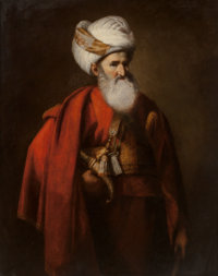 English School (18th Century) Portrait of a gentleman in Turkish dress, traditionally thought to be Edward Wort